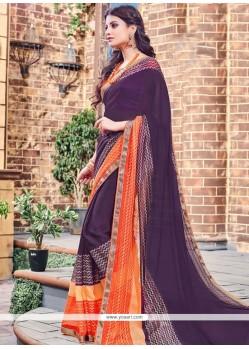Flamboyant Print Work Classic Designer Saree