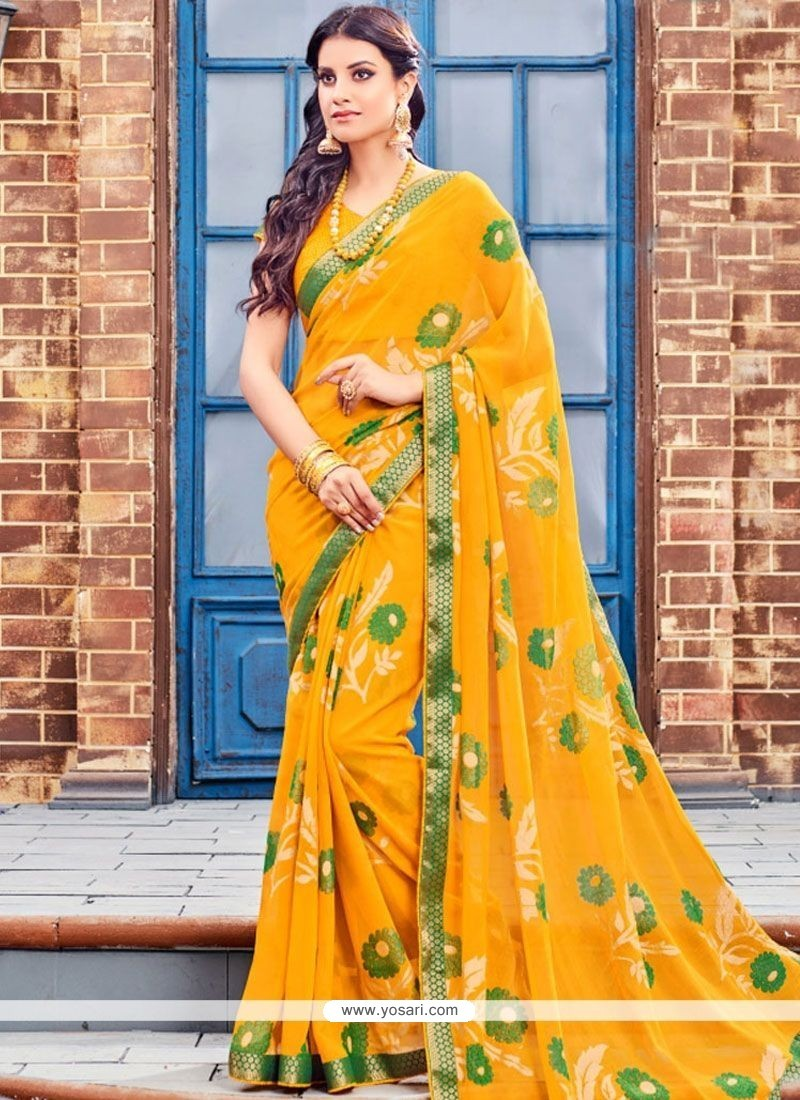Pleasance Brasso Print Work Classic Saree