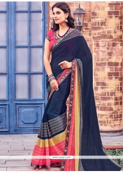 Excellent Lace Work Brasso Saree