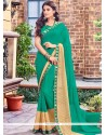 Ravishing Sea Green Classic Designer Saree