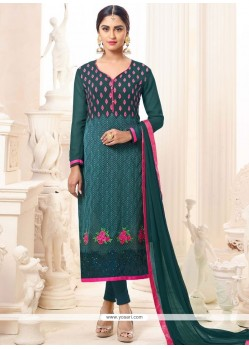 Krystle Dsouza Embroidered Work Churidar Suit