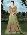 Congenial Green Net Floor Length Anarkali Suit