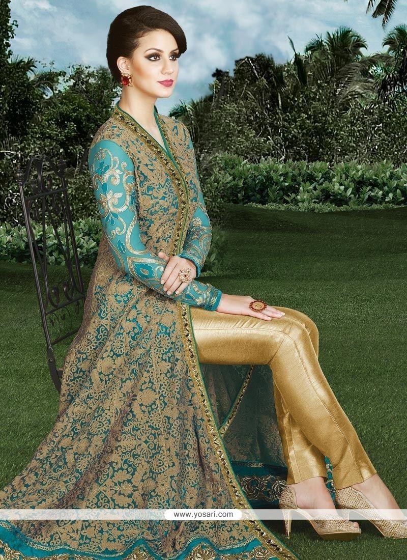 Intrinsic Resham Work Art Silk Designer Suit