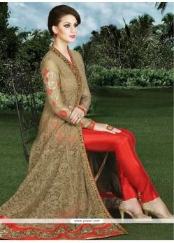 Princely Resham Work Art Silk Designer Suit