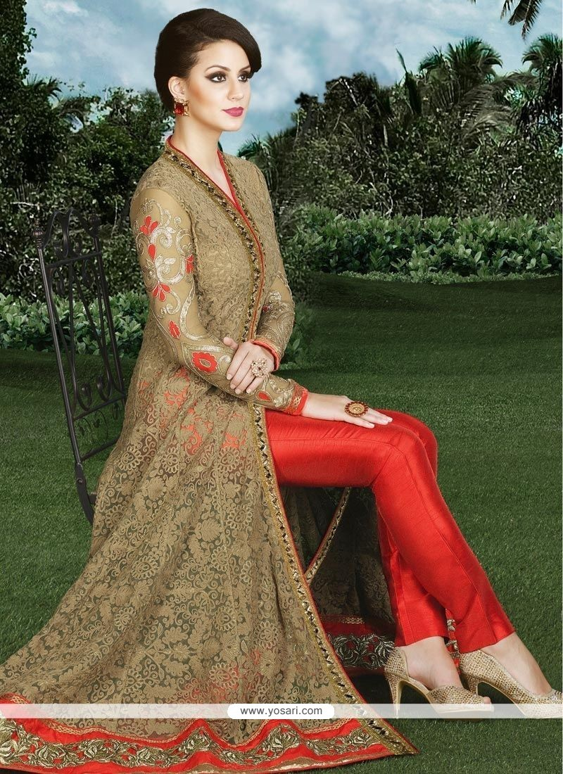 Princely Resham Work Art Silk Designer Suit