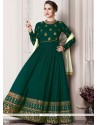 Splendid Green Floor Length Anarkali Suit
