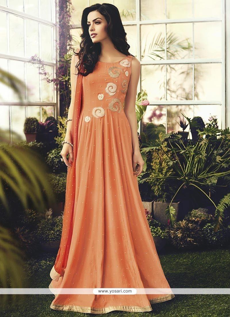 Enthralling Cotton Readymade Anarkali Salwar Suit