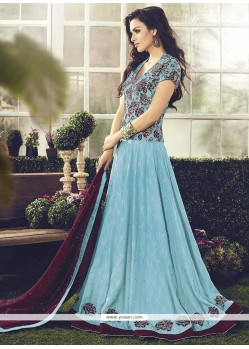 Dilettante Cotton Resham Work Readymade Anarkali Salwar Suit