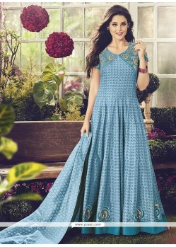 Hypnotic Chanderi Embroidered Work Readymade Anarkali Salwar Suit