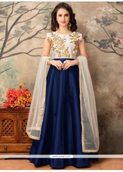 Surpassing Tafeta Silk Resham Work Floor Length Anarkali Suit