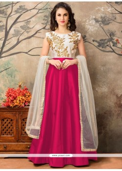 Lovable Tafeta Silk Resham Work Floor Length Anarkali Suit