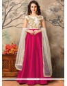 Lovable Tafeta Silk Resham Work Floor Length Anarkali Suit