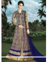 Conspicuous Embroidered Work Long Choli Lehenga