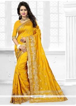 Voguish Art Silk Yellow Traditional Designer Saree