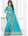 Especial Turquoise Designer Traditional Saree