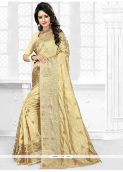 Celestial Art Silk Embroidered Work Designer Traditional Saree
