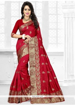 Miraculous Zari Work Art Silk Traditional Saree