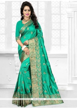 Perfect Zari Work Designer Traditional Saree