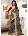 Heavenly Embroidered Work Bamber Georgette Saree