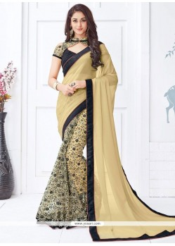 Celestial Faux Georgette Embroidered Work Half N Half Saree