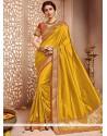 Gripping Art Silk Mustard Traditional Designer Saree