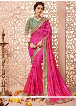 Excellent Patch Border Work Traditional Designer Saree