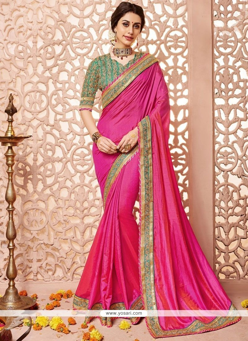 Excellent Patch Border Work Traditional Designer Saree