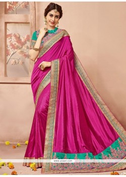 Jazzy Art Silk Embroidered Work Traditional Designer Saree