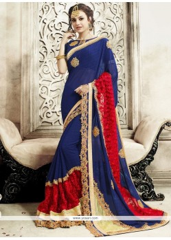 Perfect Patch Border Work Designer Saree
