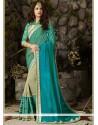 Jazzy Blue Net Designer Half N Half Saree