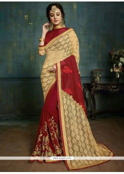 Glorious Net Patch Border Work Classic Saree