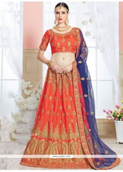 Gripping Orange Lehenga Choli