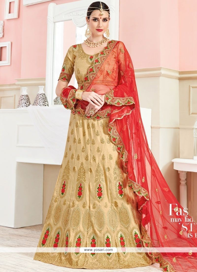 Staring Art Silk Embroidered Work Lehenga Choli