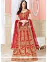 Red Zari Work Lehenga Choli