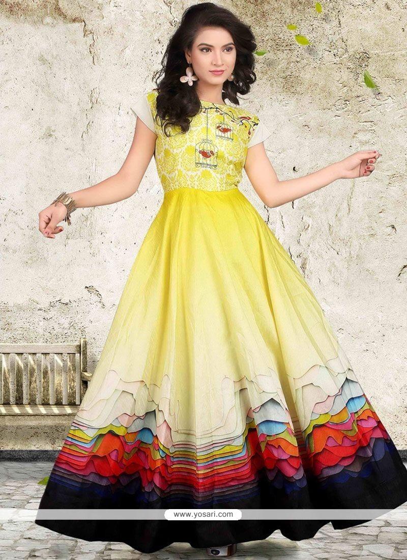 Mystical Banglori Silk Readymade Designer Gown