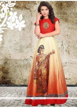 Intrinsic Digital Print Work Readymade Designer Gown