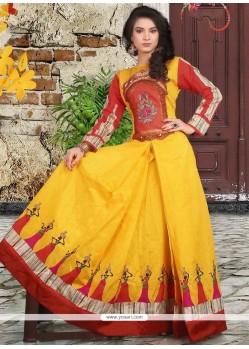 Savory Banglori Silk Hand Work Work Readymade Designer Gown