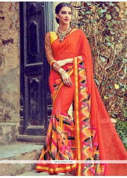 Eye-catchy Print Work Printed Saree