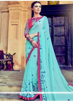 Modernistic Print Work Printed Saree