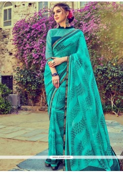 Grandiose Faux Georgette Print Work Printed Saree