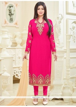 Ayesha Takia Hot Pink Churidar Designer Suit