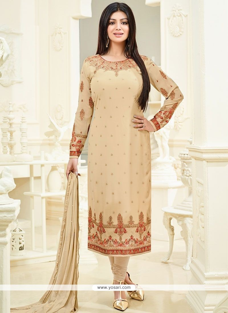 Ayesha Takia Resham Work Churidar Designer Suit