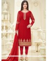 Ayesha Takia Red Churidar Designer Suit