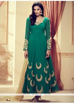 Spellbinding Green Anarkali Suit
