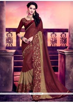 Aristocratic Lycra Lace Work Designer Saree