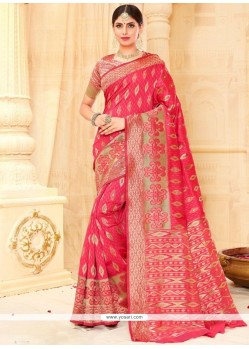Spectacular Tussar Silk Weaving Work Designer Traditional Saree