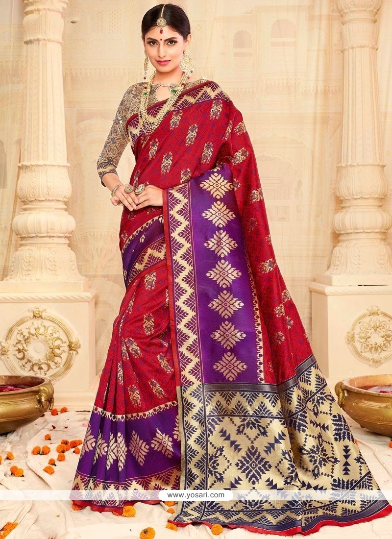 Intricate Weaving Work Tussar Silk Designer Traditional Saree