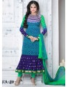 Multicolor Crepe Anarkali Suit