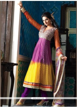 Aspiring Net Anarkali Suit