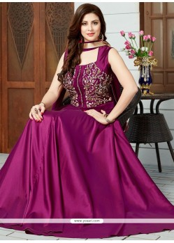 Magnetize Stone Work Art Silk Floor Length Anarkali Suit